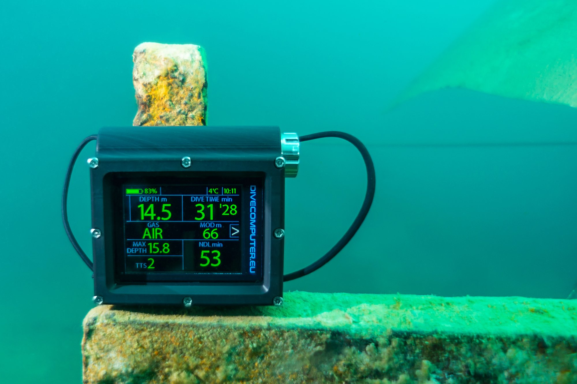 Dive computer in the Excavators Quarry